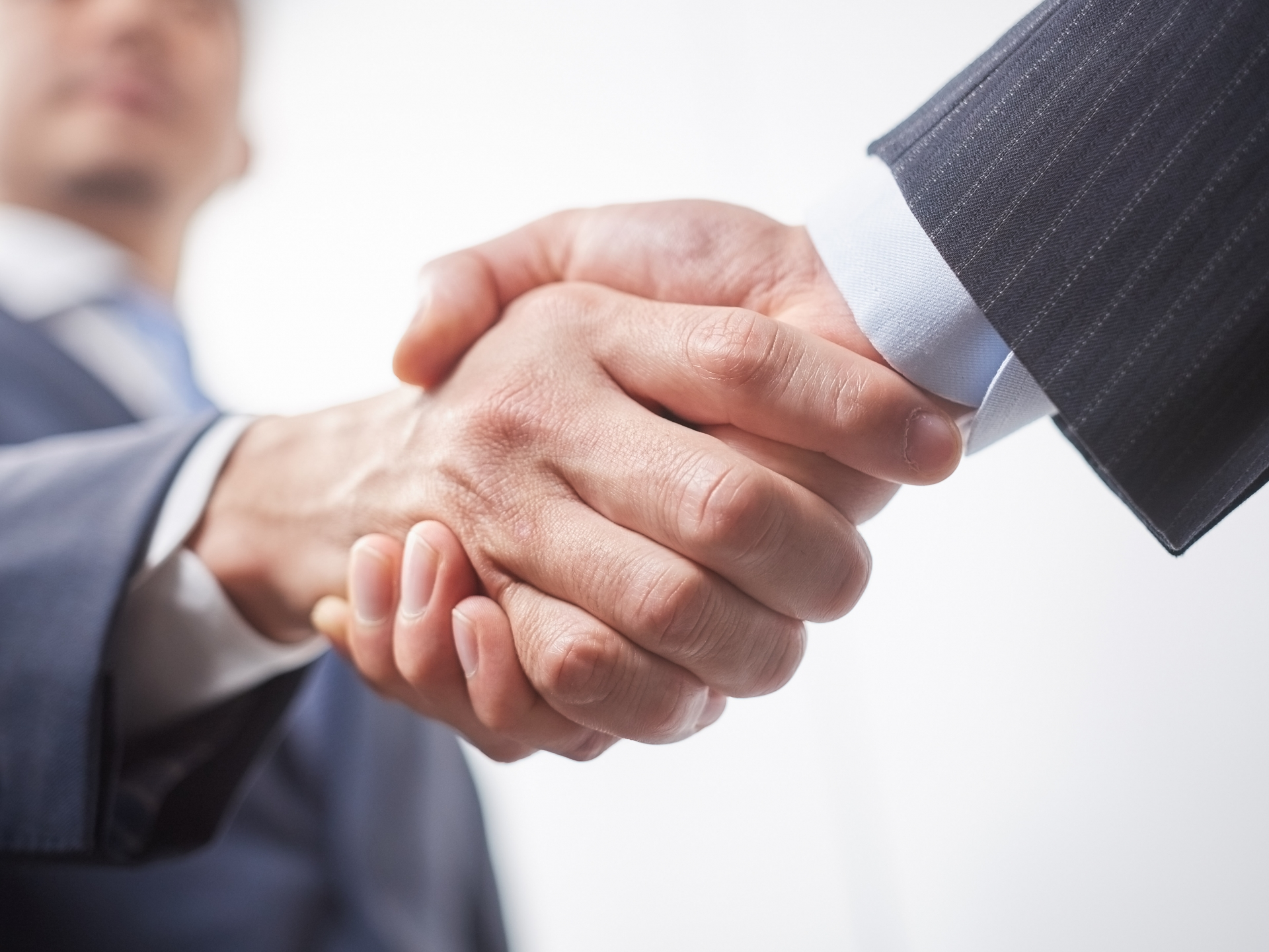 握手した手